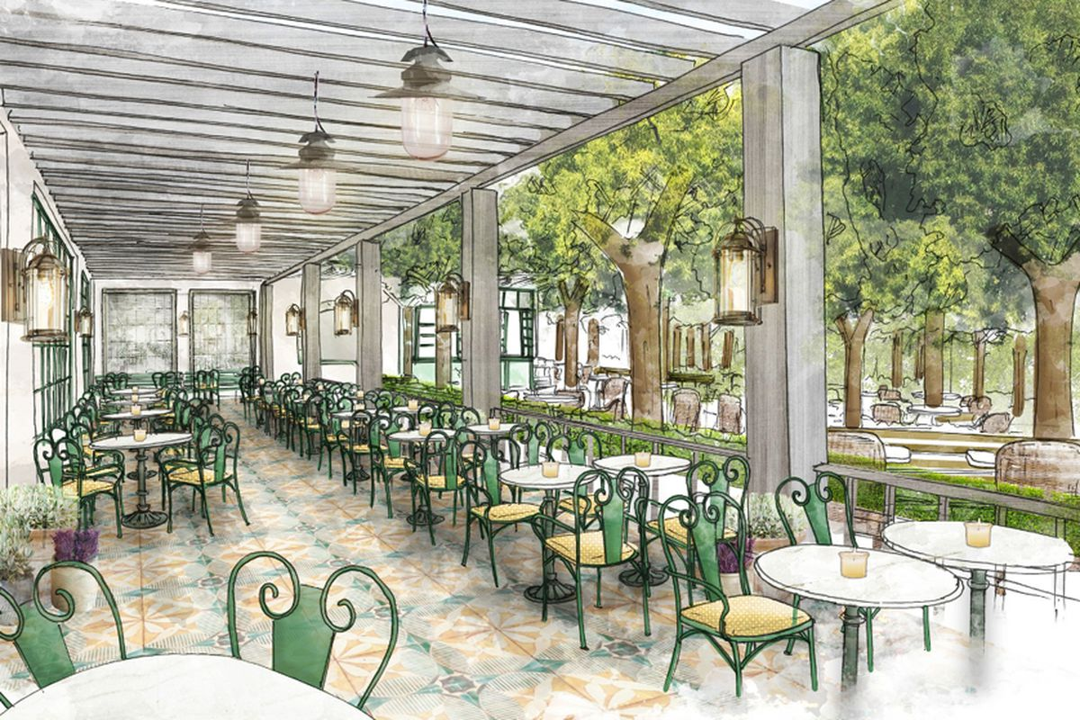 Primrose restaurant opening at park mgm lobby eater vegas for Terrace on the park restaurant