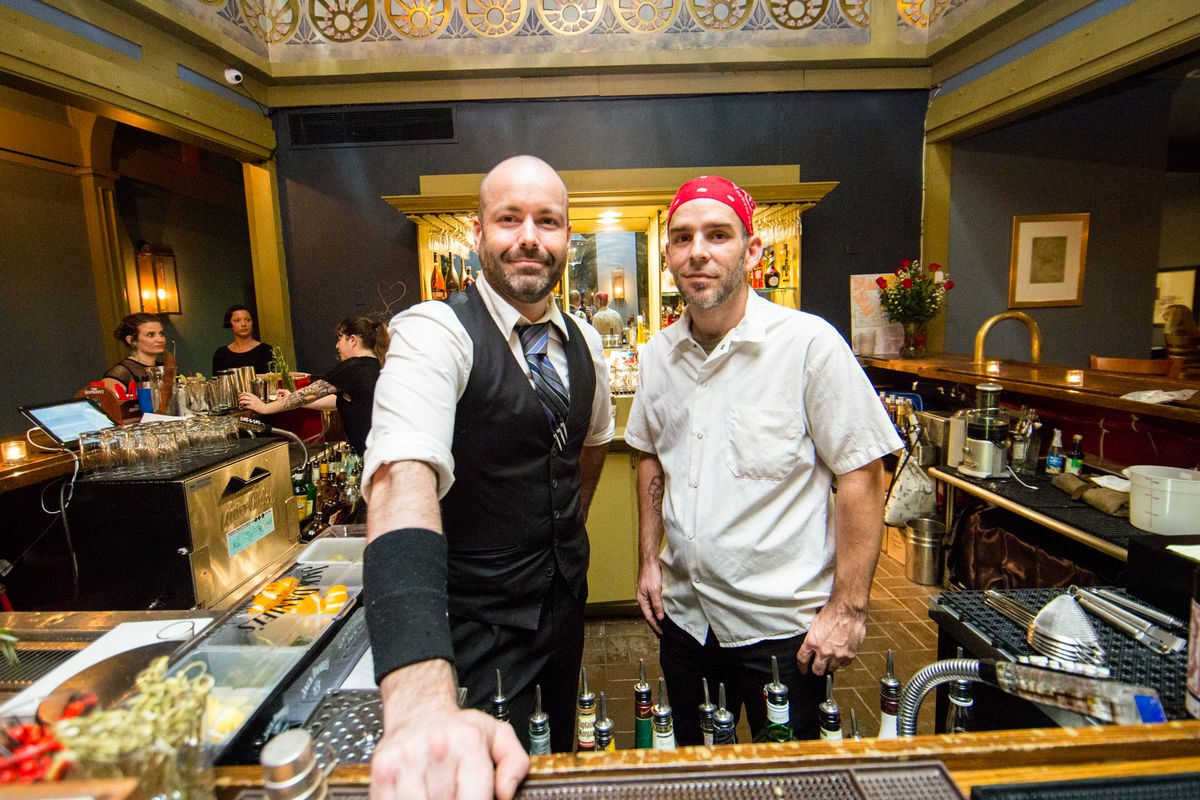 michael pedranti out at newly opened along bar manager lynn burgett ii and michael pedranti during 1011 s opening brasted