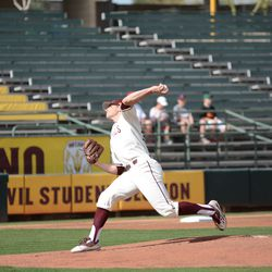 Junior Eli Lingos had six strikeouts through 6.2 innings Friday afternoon