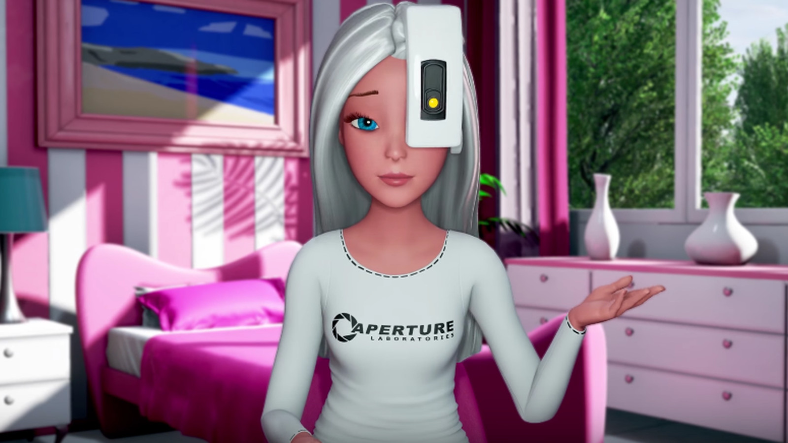 One of Portal's biggest fans is, of all people, Barbie
