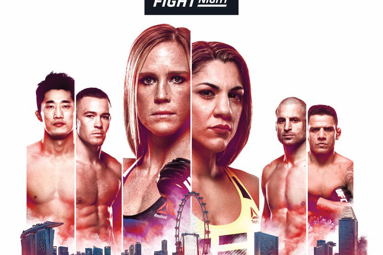 community news, Pic: UFC Fight Night 111 poster for 'Holm vs Correia' in Singapore