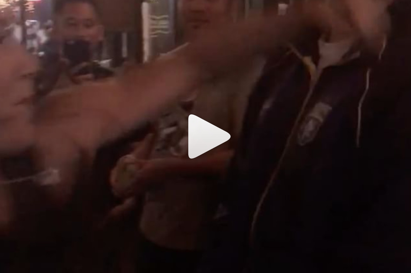 community news, Video: Former UFC champ walks into a bar, punches MMA fan in the face