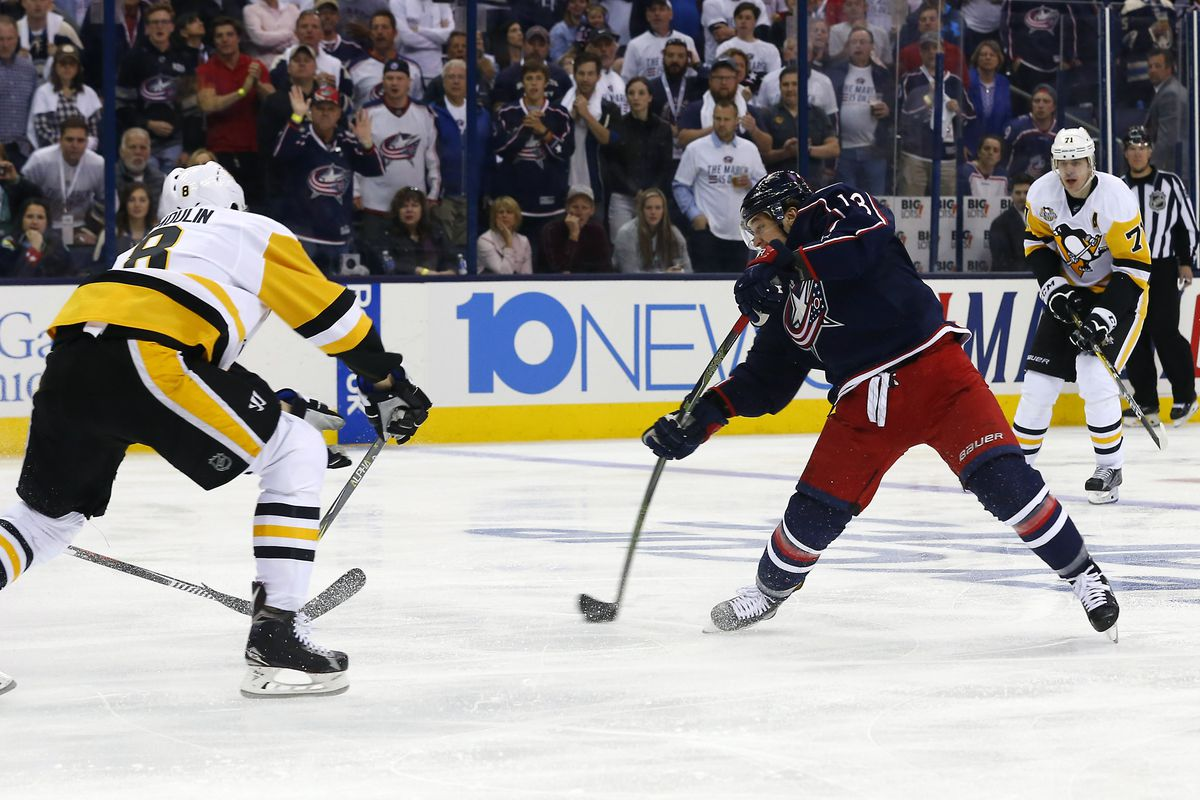 Blue Jackets stay alive in National Hockey League  playoffs with win over Penguins