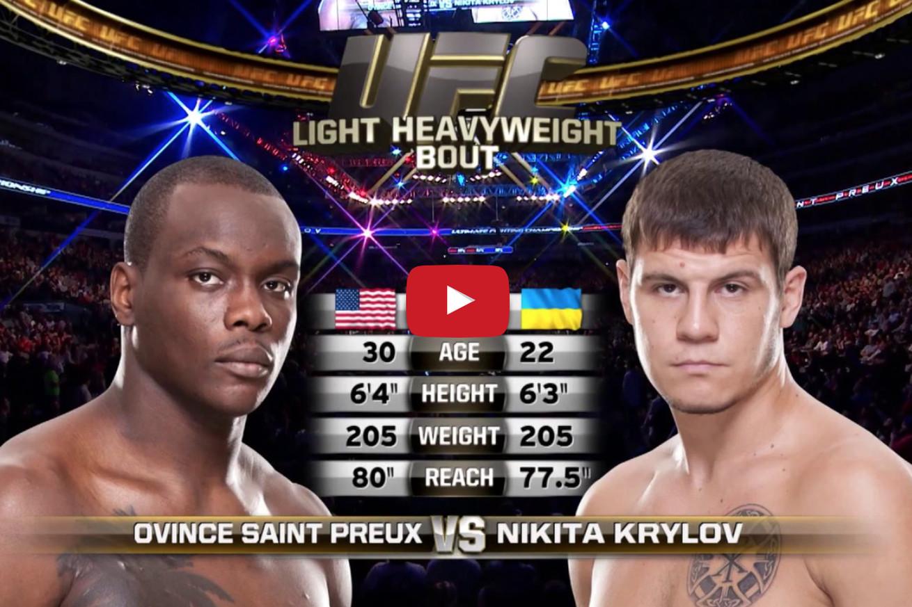 community news, Free fight! Watch Ovince Saint Preux mangle, strangle Nikita Krylov at UFC 171 (Video)