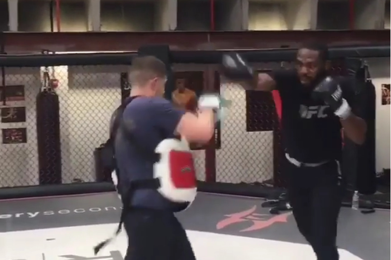 community news, Jon Jones smashes pads shortly after being released from jail
