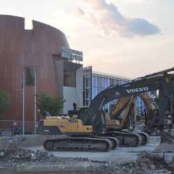 The park expansion will open up directly across the street from the College Football Hall of Fame.
