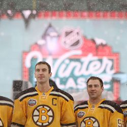 The first Bruins Winter Classic uniform, lifted from a design used in the 50's
