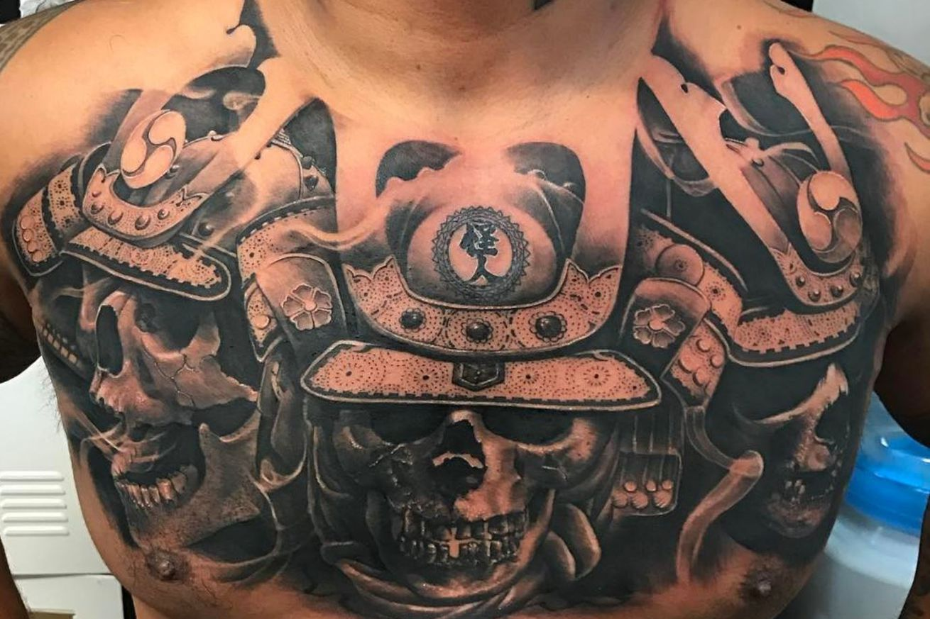 Mark Hunt's new chest tattoo is something to behold