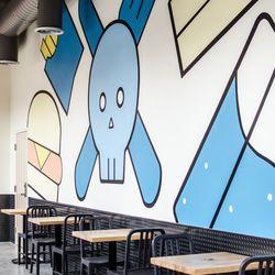 """Roxy's Central. Mural by <a href=""""http://www.lauradedonato.com/"""">Laura DeDonato</a>."""