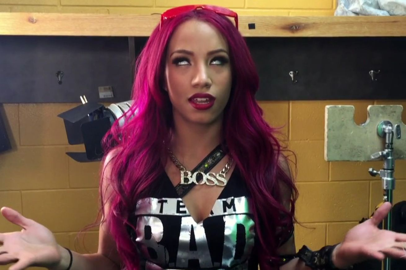 Wwe fans sasha banks deserves the next as title match cageside