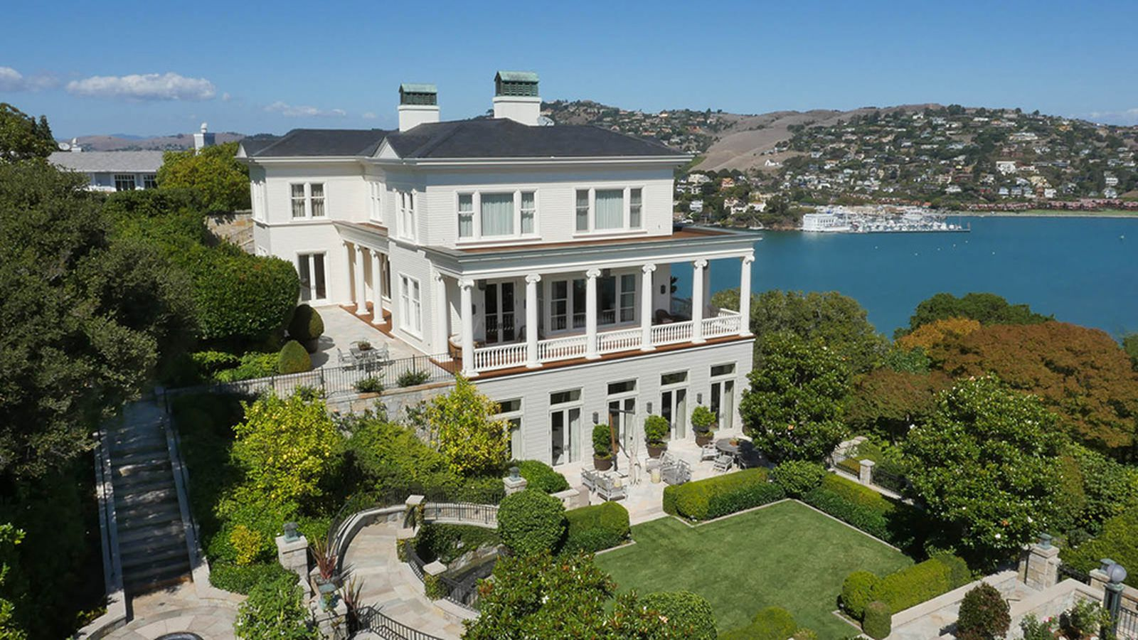 Exclusive locksley hall in belvedere sells for 47 5m for Expensive homes for sale in california