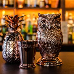 Bar accents at Pagu, now open in Central Square.