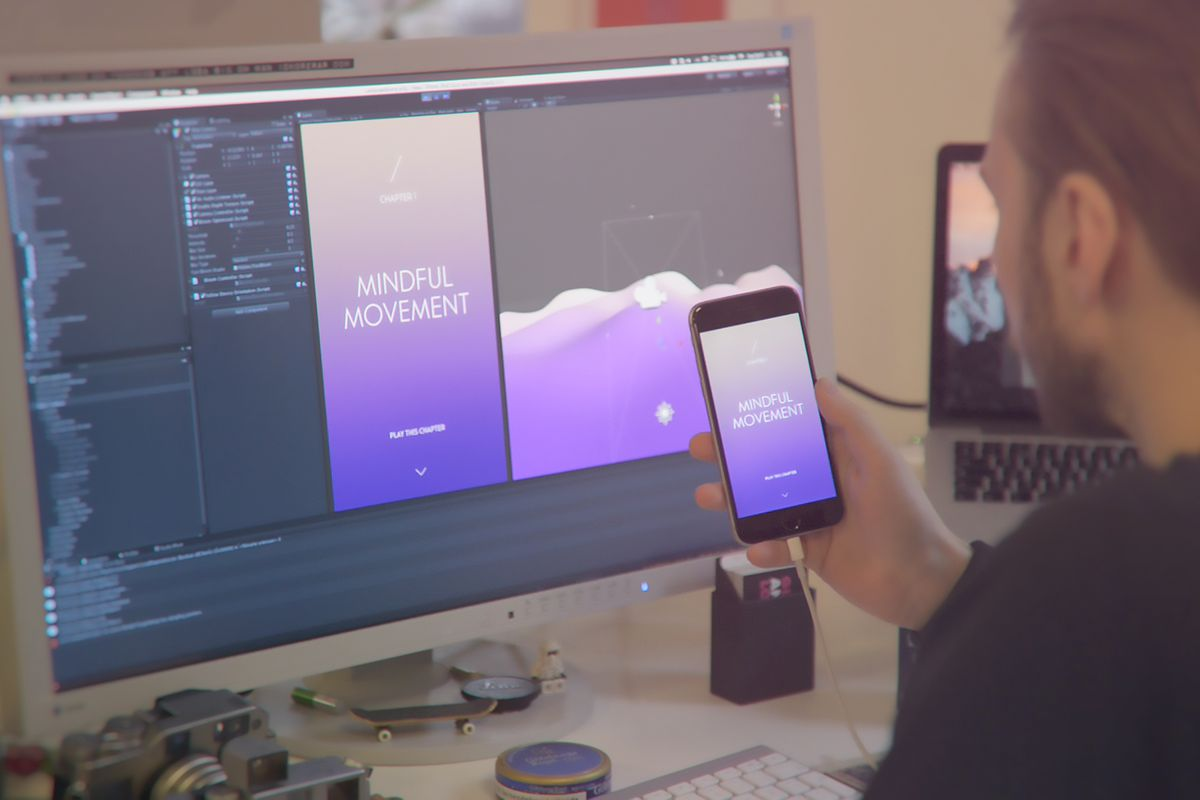 Sway embraces the contradiction of meditating with your smartphone