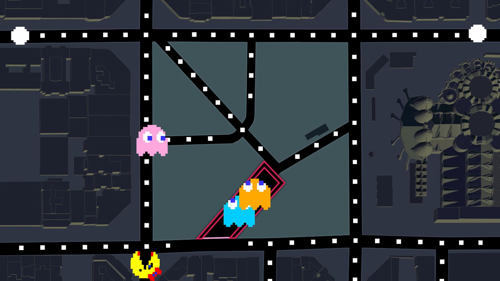 Ms. Pac-Man In Google Maps Is Today's Best Time-waster