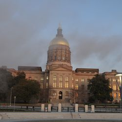 The dust cloud over the Capitol.