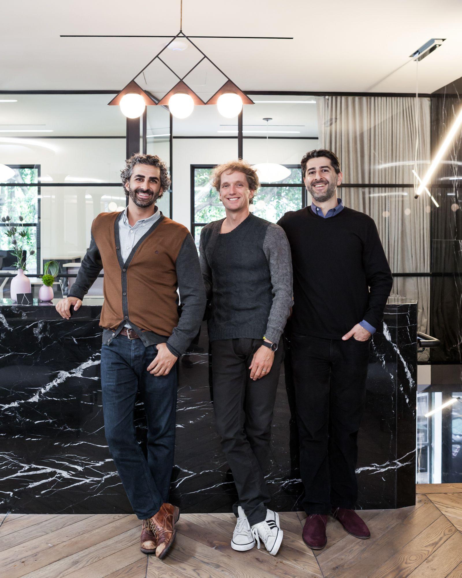 Canopy founders Amir Mortazavi, Yves Béhar, and Steve Mohebi.