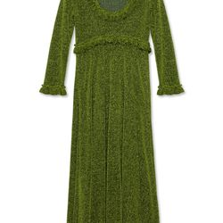 "<a href=""https://www.alexachung.com/row/frill-trim-dress-green-8"">Frill Trim Dress</a>, $550"