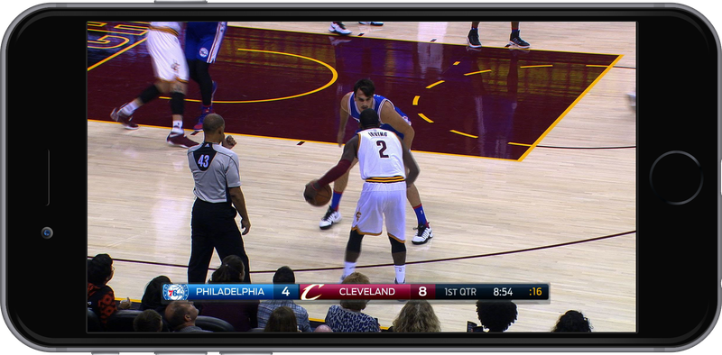 A simulation of the mobile view the NBA is offering this year to its League Pass subscribers