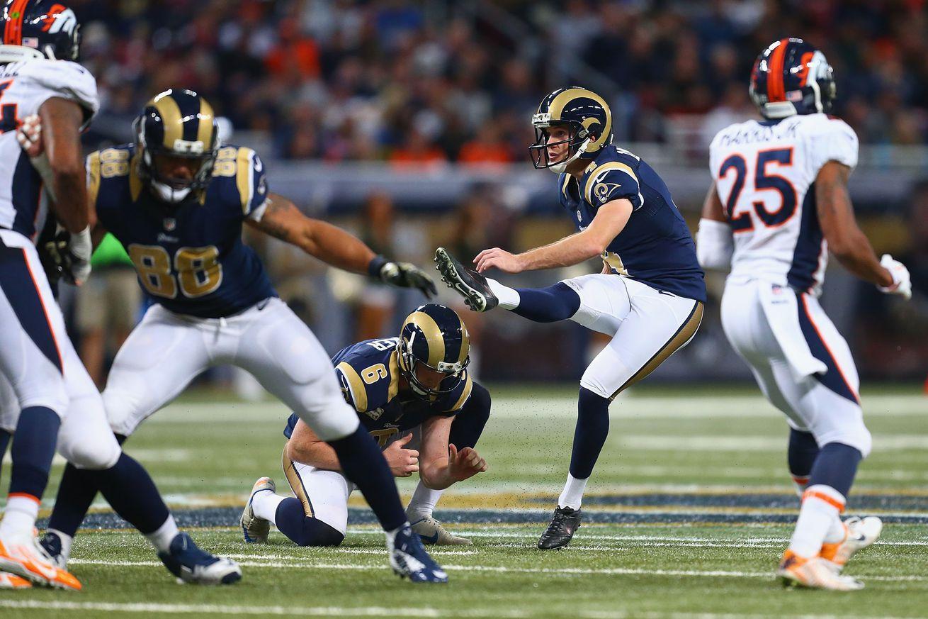 Rams Broncos Greg Zuerlein Named Nfc Special Teams Player