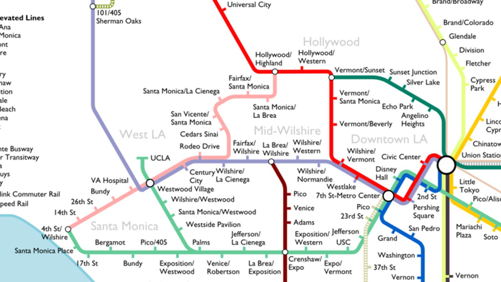The Most Optimistic Possible LA Metro Rail Map Of 2040