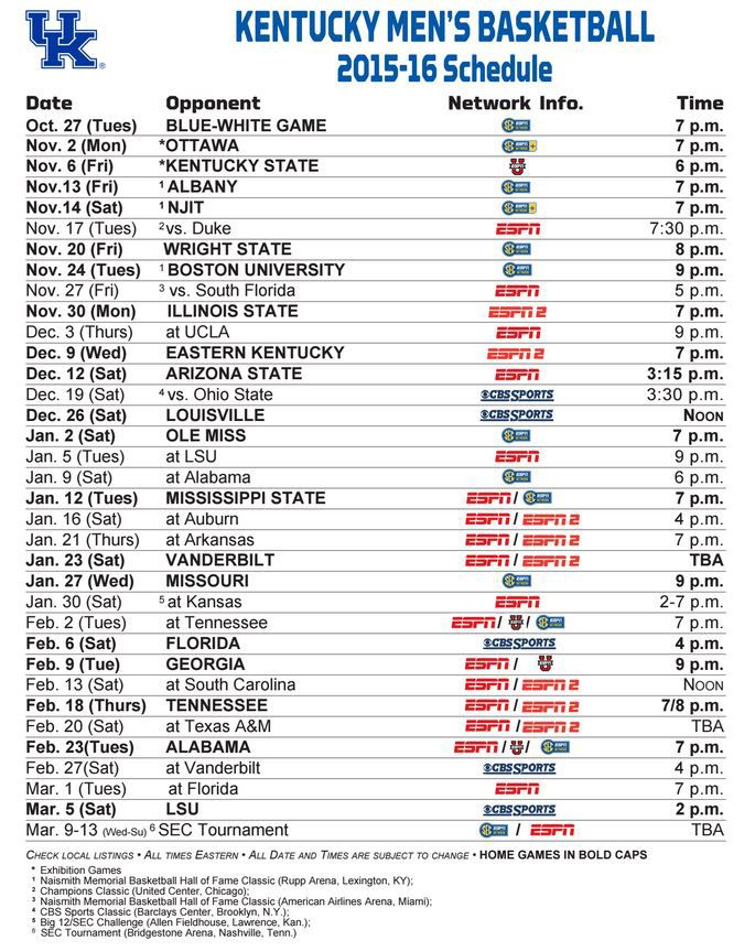 Delicate image for uk basketball schedule printable