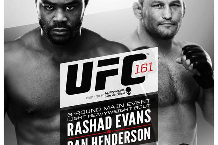 ufc 161 evans vs henderson drug test results come back squeaky clean bloody elbow. Black Bedroom Furniture Sets. Home Design Ideas