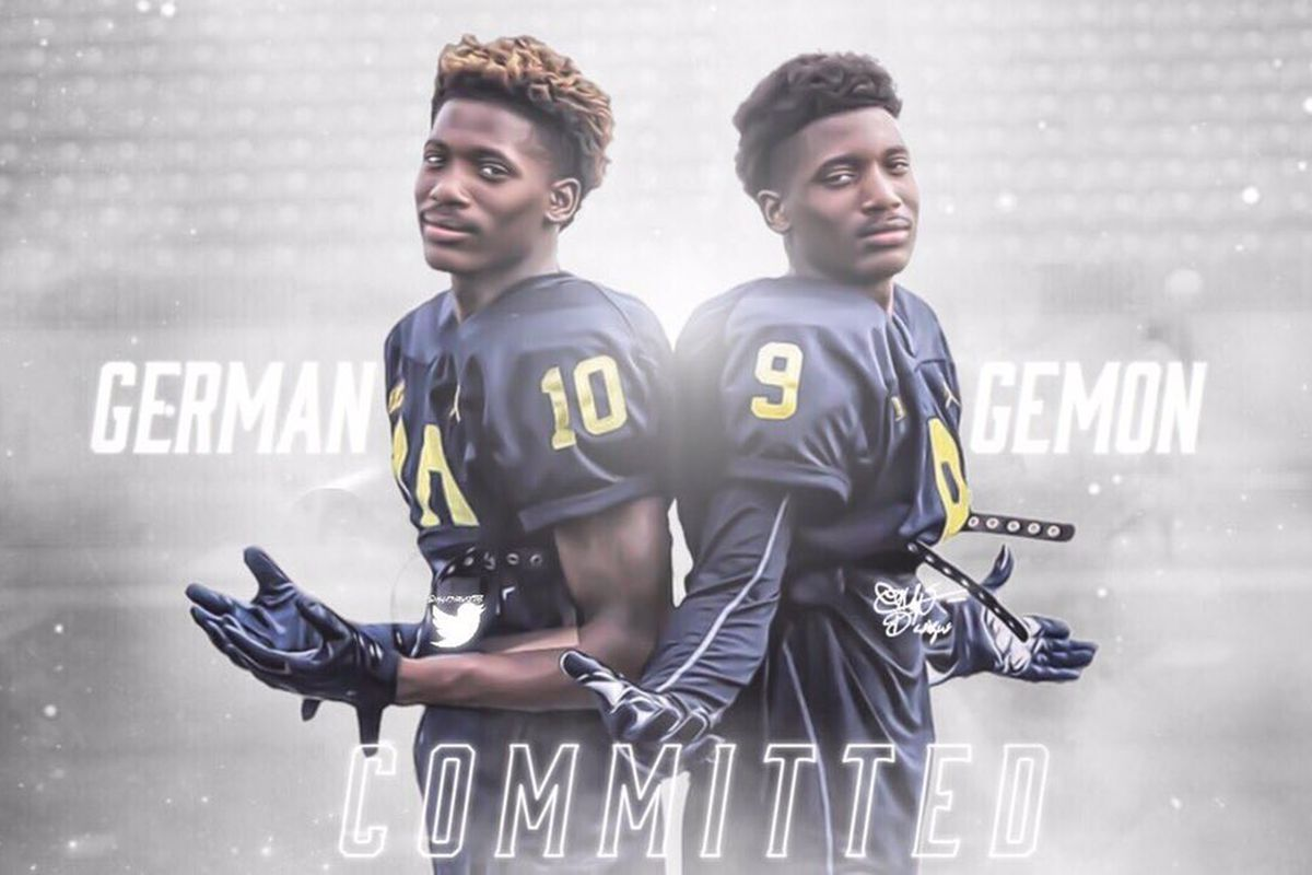 Twin three-star CBs Gemon and German Green commit to MI
