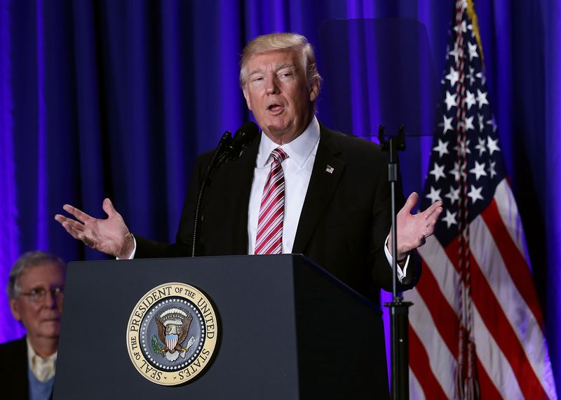 Donald Trump Addresses Republican Retreat In Philadelphia