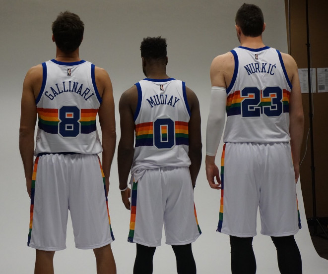 Nuggets Jersey Rainbow: Game Thread: Portland Trail Blazers At Denver Nuggets