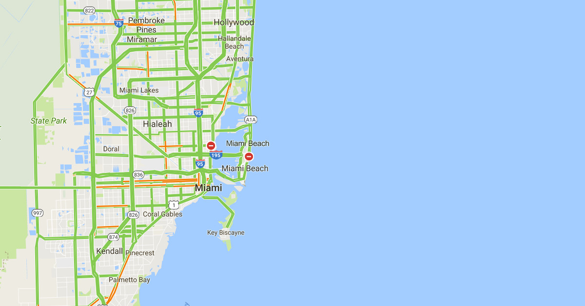 Google Maps will mark road closures in real time in Florida ...