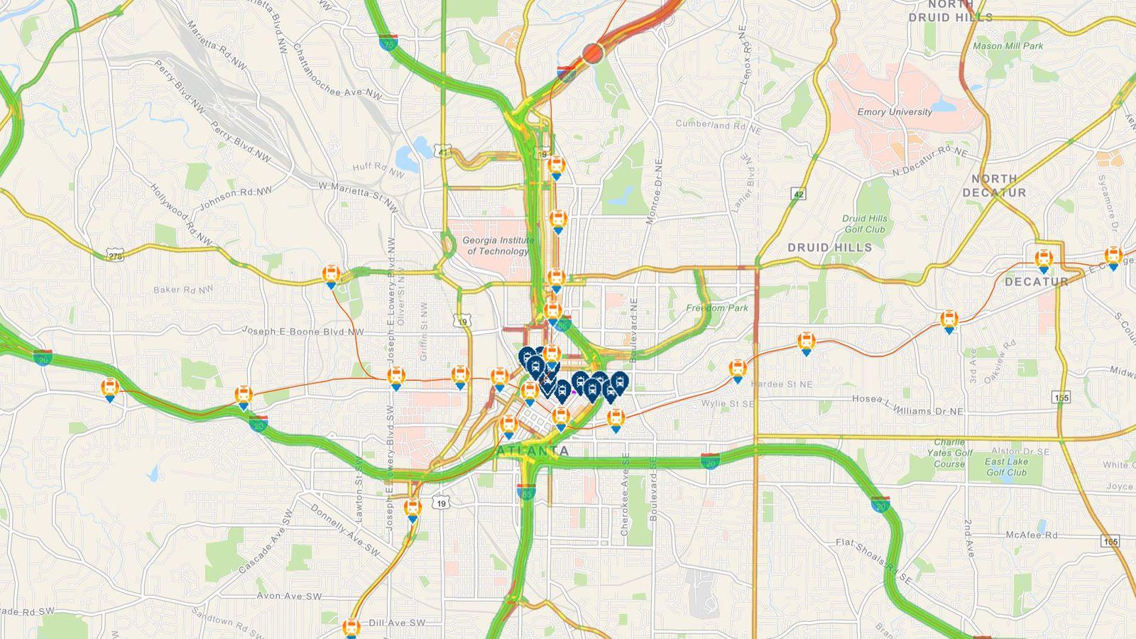 New Atlanta Commute Tool Highlights Traffic Transit And