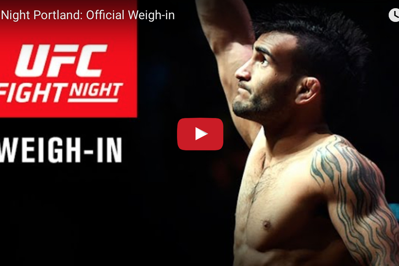 community news, UFC Fight Night 96 weigh in video results for Lineker vs Dodson in Portland