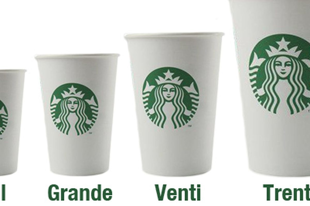 Starbucks Drink Sizes Canada