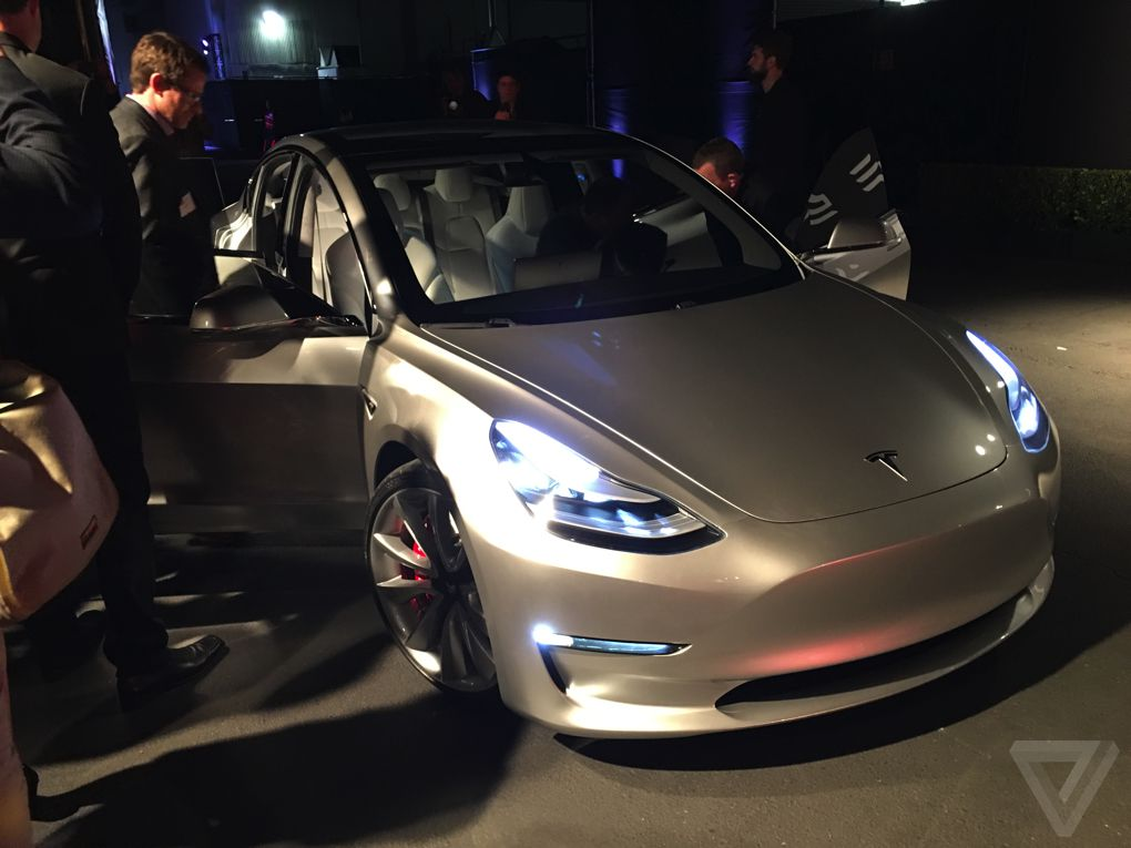 the 35 000 tesla model 3 in pictures the verge. Black Bedroom Furniture Sets. Home Design Ideas