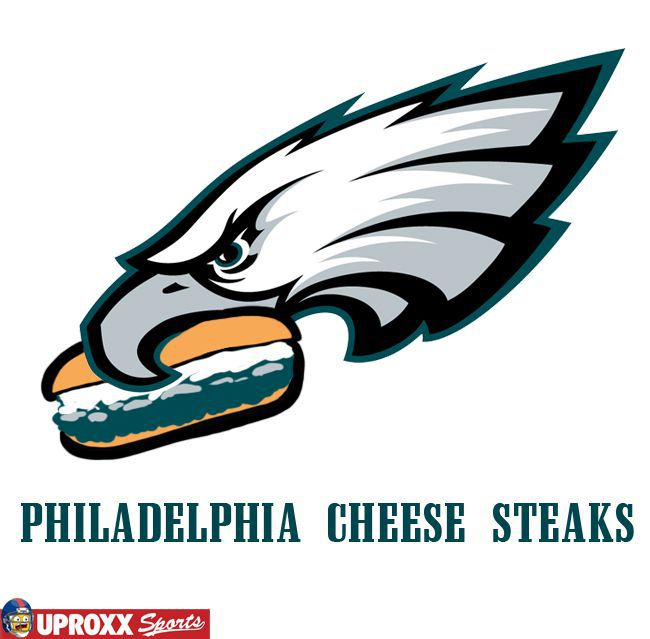 Adding a Philadelphia cheesesteak to the Eagles logo is an instant ...