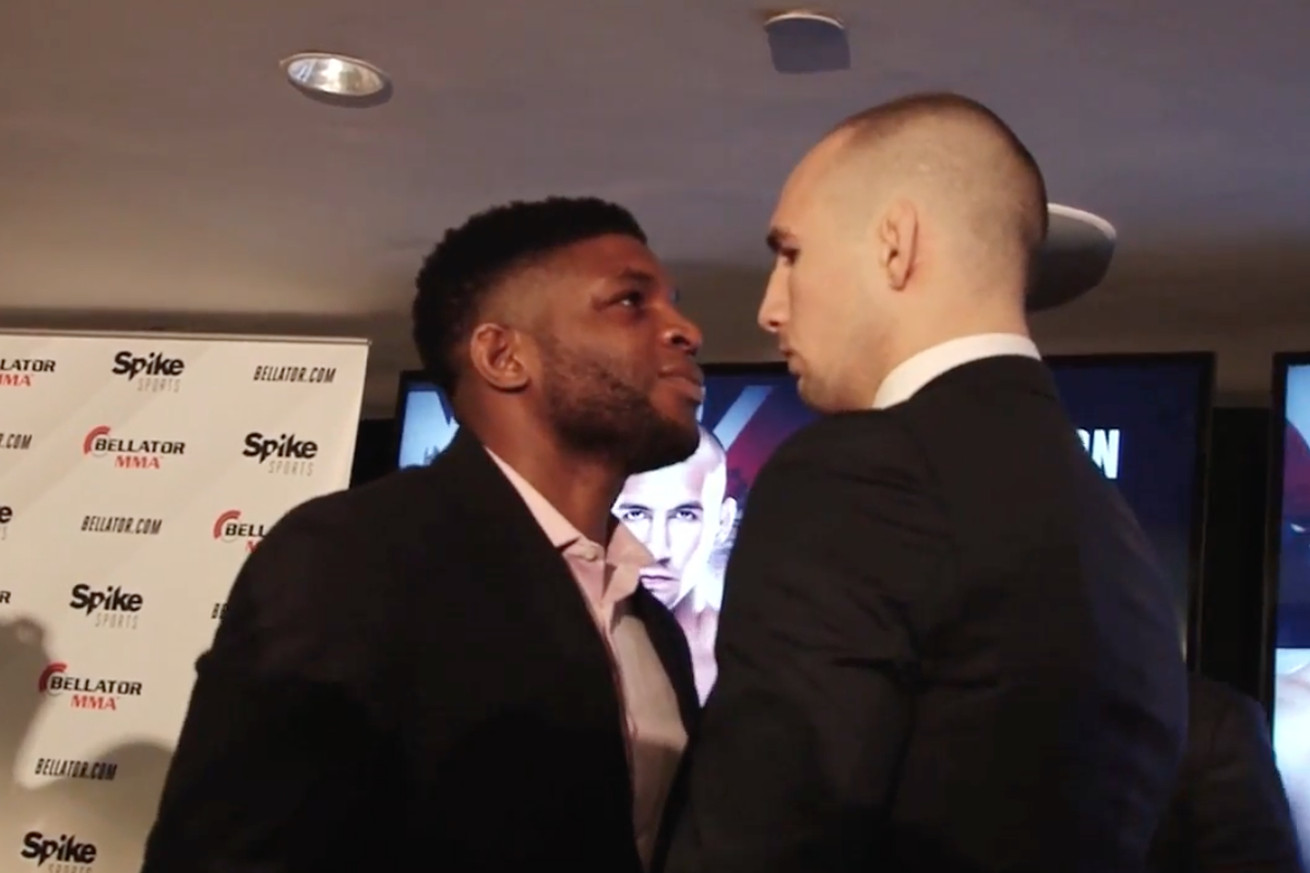 community news, Video: Paul Daley vs Rory MacDonald intense staredown from Bellator 179 press conference