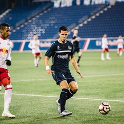 At the other end of the field, Harrisburg's Lee Nishanian got acquainted with Murillo