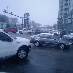 As the snow continued to fall in the afternoon, everyone forgot how to drive. Peachtree Road in Buckhead turned into complete gridlock.