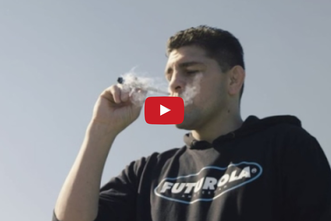 Video: Nick Diaz smokes a giant blunt in new commercial for Futurola rolling paper