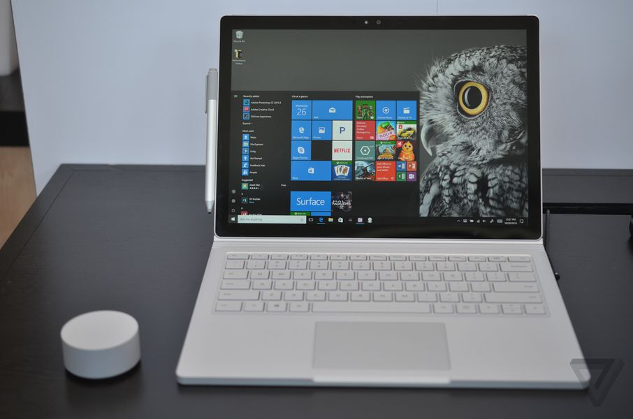 Microsoft reveals new Surface Book, Windows 10 update