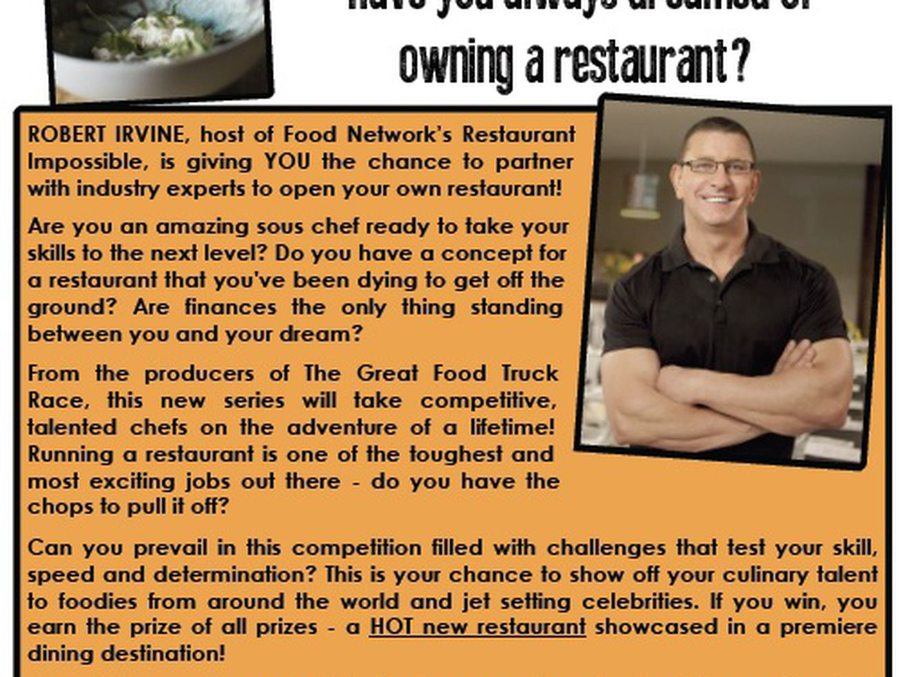 robert irvine casting chefs to win hot new restaurant eater