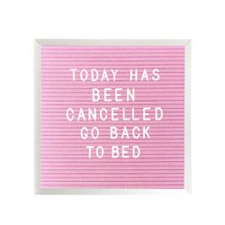 """Three Potato Four <a href=""""http://threepotatofour.com/collections/letter-board/products/10-x-10-letter-board-pink"""">10x10 Letter Board</a>, $51.60"""