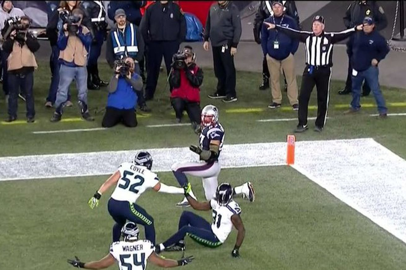 Image result for patriots seahawks 2016 final play