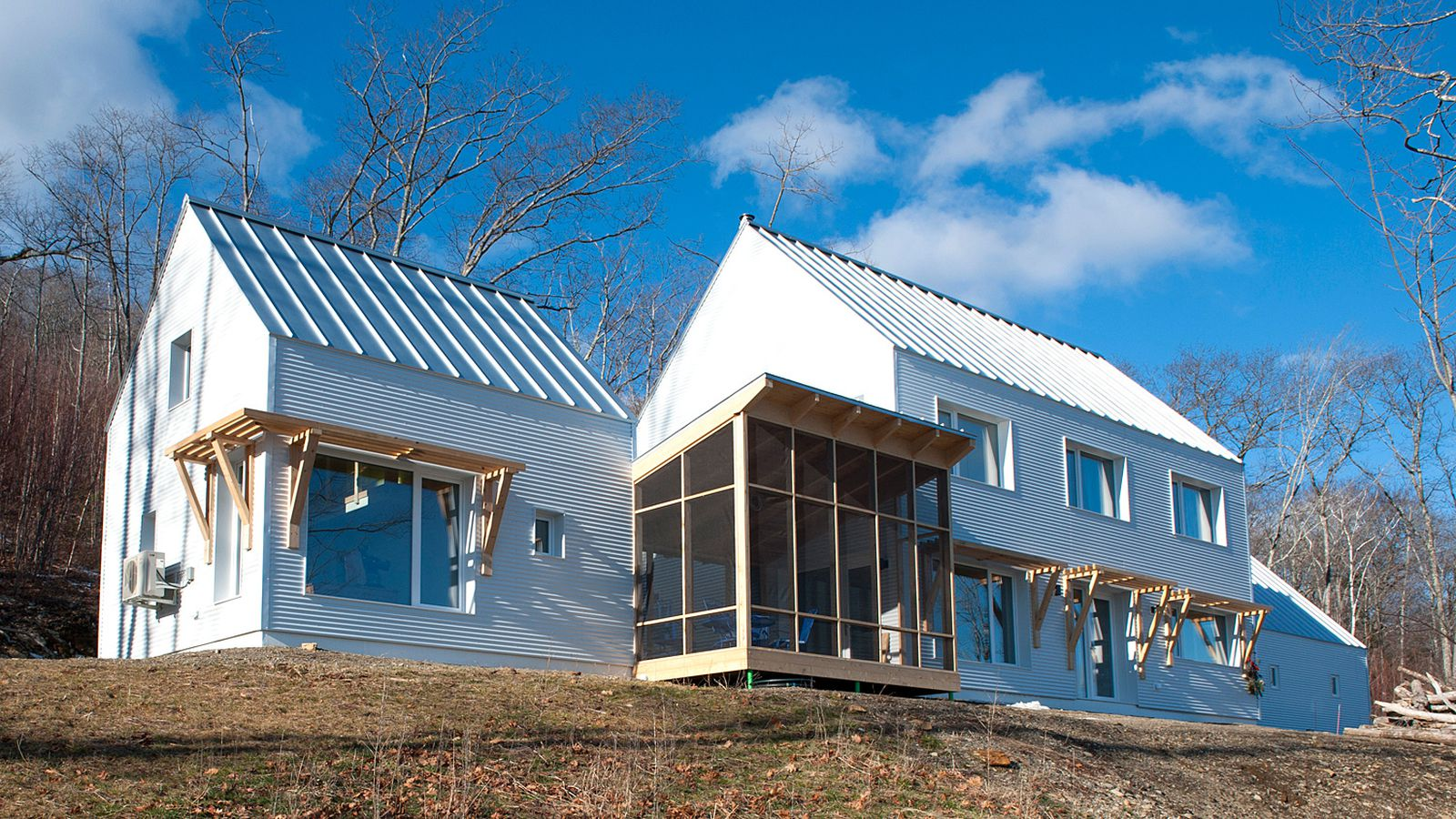 New passive house prefab factory an assembly line for for Building a house in maine