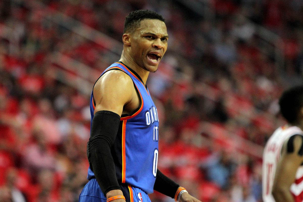 Westbrook clinches triple-double in first half vs. Rockets