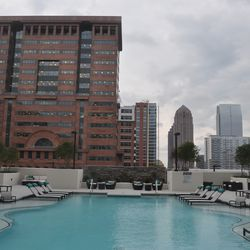 The pool deck on the 8th floor.