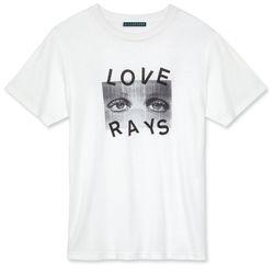 "<a href=""https://www.alexachung.com/row/love-rays-t-shirt-ivory-3"">Love Rays T-Shirt</a>, $115"