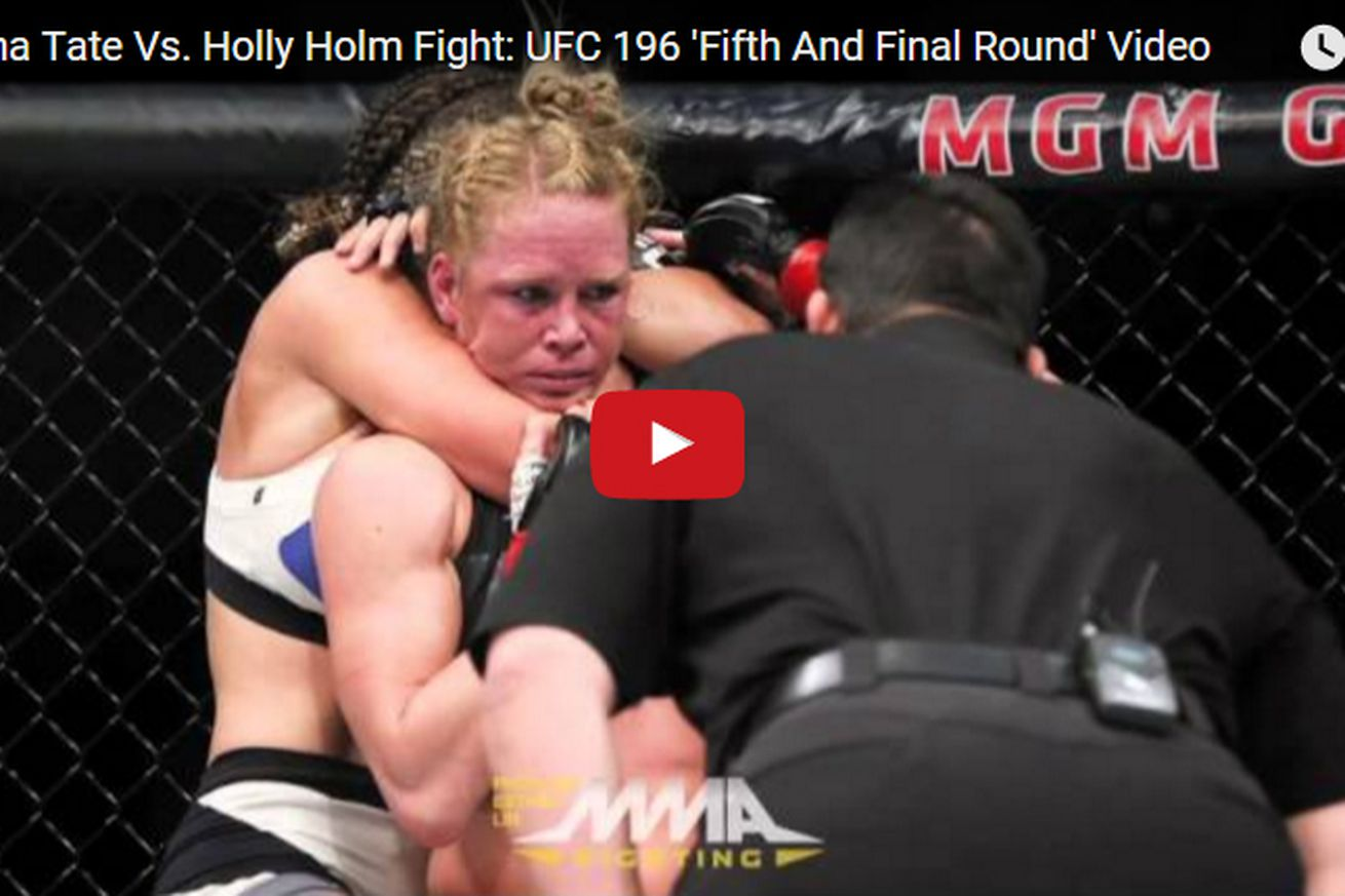 community news, Miesha Tate vs Holly Holm fight: UFC 196 Fifth and Final Round video