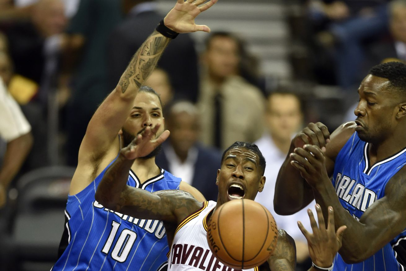 LeBron James, Kyrie Irving lead Cavaliers past Magic, 105-99
