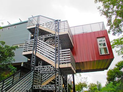 Shipping containers repurposed for off-grid home in South Africa